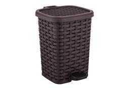 KATEX RATTAN Kosz na śmieci z pedałem 12 L brązowy