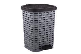KATEX RATTAN Kosz na śmieci z pedałem 12 L szary
