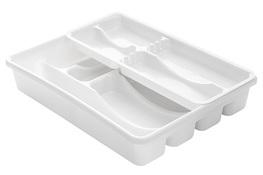 PLAST TEAM Wkład do szuflady 39 x 30.5 cm dwuczęściowy biały