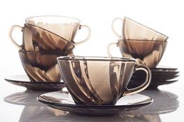 DURALEX BEAU RIVAGE CREOLE Serwis kawowy, herbaciany 12/6 filiżanki 180 ml