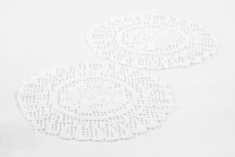 Serwetki, podkładki okrągłe 25 cm 2 sztuki - mix wzorów