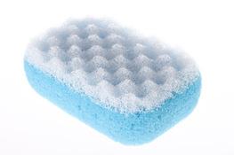 Gąbka kąpielowa do masażu owalna - mix kolorów
