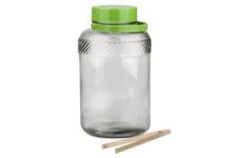 BIOWIN Słój, słoik szklany 5 L + szczypce