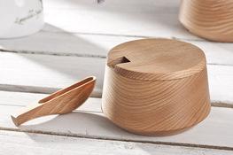PRACTIC Cukiernica drewniana 200 ml z łyżeczką