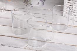 TERMISIL Kubki, szklanki żaroodporne 400 ml zestaw 3 sztuk