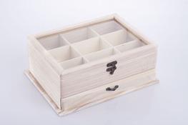 Pudełko drewniane na biżuterię 30 x 22 x 12 cm decoupage