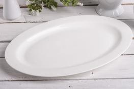 Półmisek owalny 36 x 24.5 cm biały