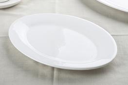 Półmisek owalny 30 x 20.5 cm biały