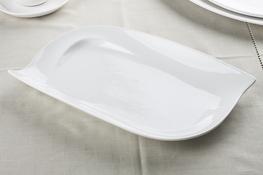 Półmisek owalny 34 x 21.5 cm biały