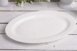 Półmisek owalny 30 x 19.5 cm biały