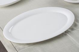 Półmisek owalny 32 x 21 cm biały