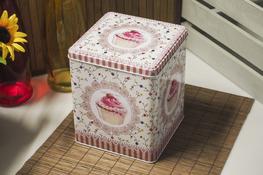 Puszki zdobione kwadratowe zestaw 3 sztuk