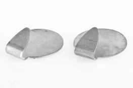 Wieszaki metalowe okrągłe samoprzylepne 2 sztuki