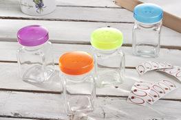 PRACTIC Przyprawnik szklany 150 ml - mix kolorów