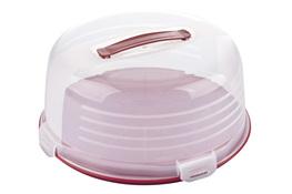 CURVER Pojemnik na ciasto okrągły 33 cm czerwony