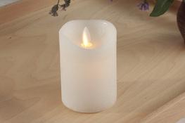 Świeca woskowa LED h-10 cm tańczący płomień