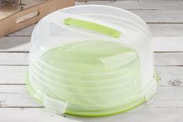 CURVER Pojemnik na ciasto okrągły 33 cm zielony