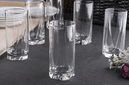 PASABAHCE LUNA Szklanki long drink 390 ml 6 sztuk
