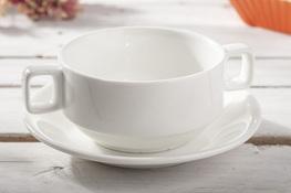 Bulionówka porcelanowa ze spodkiem 250 ml