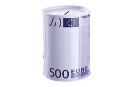 Puszka skarbonka EURO 8.5 x 11.5 cm - mix wzorów