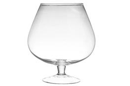 IRENA Świecznik szklany kielich h-25 cm