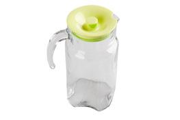 PASABAHCE LUNA Dzbanek szklany 1.7 L z zieloną pokrywką