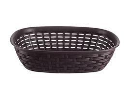 Katex Rattan koszyk na chleb 25 x 18 cm brązowy
