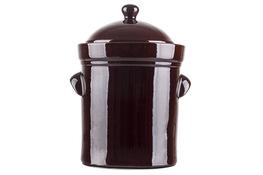 BOLESŁAWIEC Garnek ceramiczny, prosty 10 L z pokrywą 1923