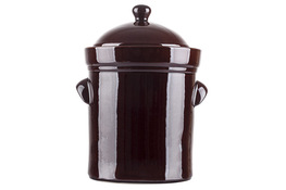 BOLESŁAWIEC Beczka, garnek ceramiczny 25 L z pokrywą 1925