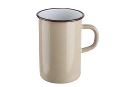 ELOPOL Kubek emaliowany gładki 10 cm 1.2l do kawy mix indukcja