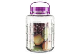Słój, słoik szklany z plastikową zakrętką i uchwytem 12l