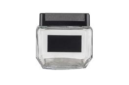 Słój, słoik szklany kwadratowy z zakrętką 11x11x10cm 0.8l