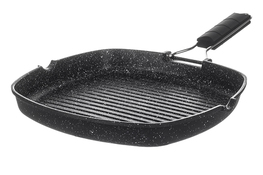 KINGHOFF Patelnia grillowa marmurowa 24 x 24 x 4 cm indukcja