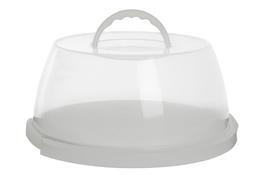 PLAST TEAM Pojemnik na ciasto 31.2x15cm biały