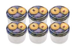BROWIN Słój 235 ml z nakrętką i naklejką - zgrzewka 6 sztuk