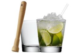 WMF Zestaw 2 szklanek do Caipirinha + tłuczek Clever&More