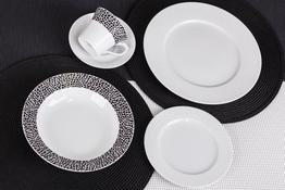 CHODZIEŻ VENUS BLACK & WHITE Serwis obiadowy i kawowy 30/6 K244
