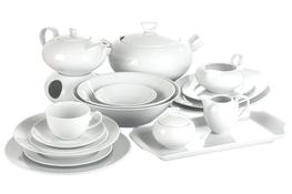 CHODZIEŻ YVETTE BIAŁA LINEA Serwis obiadowy i herbaciany 86/12 E755