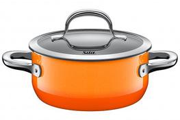 SILIT Garnek niski PASSION 16 cm 1.3 L z/p Orange indukcja