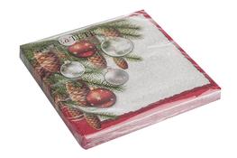 Serwetki papierowe z motywem świątecznym 20 sztuk 33 x 33 cm