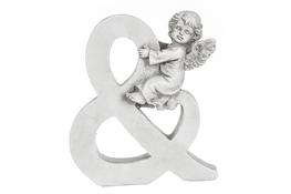 """Znak """"&"""" figurka z aniołkiem 13 cm"""