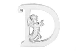 Literka D figurka z aniołkiem 13 cm