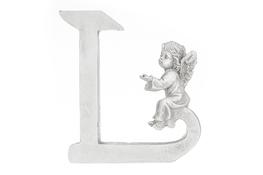 Literka L figurka z aniołkiem 13 cm