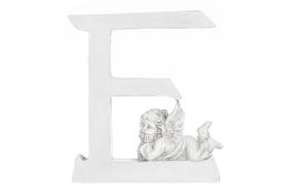 Literka E figurka z aniołkiem 13 cm