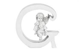 Literka G figurka z aniołkiem 13 cm