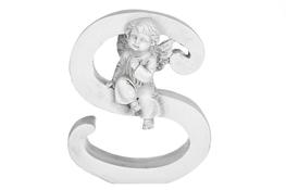 Literka S figurka z aniołkiem 13 cm