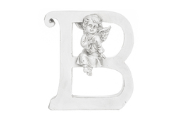 Literka B figurka z aniołkiem 13 cm