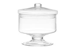 IRENA Bomboniera szklana na stopce 22 cm