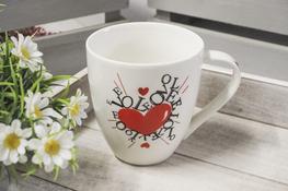 Kubek ceramiczny I Love You - mix wzorów