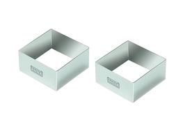 KAISER PICCANTINI Pierścienie do deserów kwadratowe 8 cm 2 sztuki